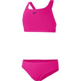 speedo Essential Endurance+ Medalist Bikini Mädchen electric pink